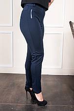 Женские синие брюки на байке Аманда, фото 2