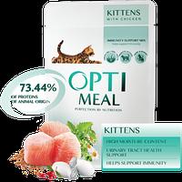 Полнорационный консервированный корм Optimeal для котят с курицей, 85 г