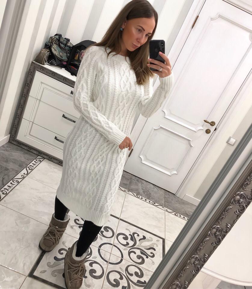 14a36d611b740ac Купить сейчас - Белое вязаное платье: 600 грн. - Платья, сарафаны ...