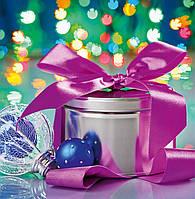 Новогодний пакет подарочный бумажный квадрат 23х24х10 (24-130)