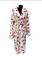 Женский махровый халат Soft (Длинный с капюшоном) Турция - 2239