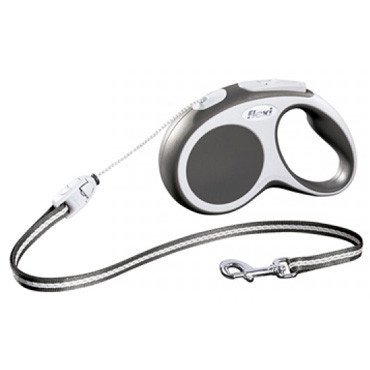 FLEXI VARIO S Поводок-рулетка для мелких собак, хорьков и кошек, 8м (трос), до 12 кг, черный