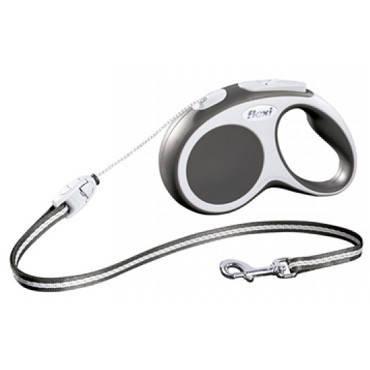 FLEXI VARIO S Поводок-рулетка для мелких собак, хорьков и кошек, 8м (трос), до 12 кг, черный, фото 2