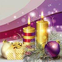 Новогодний пакет подарочный бумажный квадрат 23х24х10 (24-131)