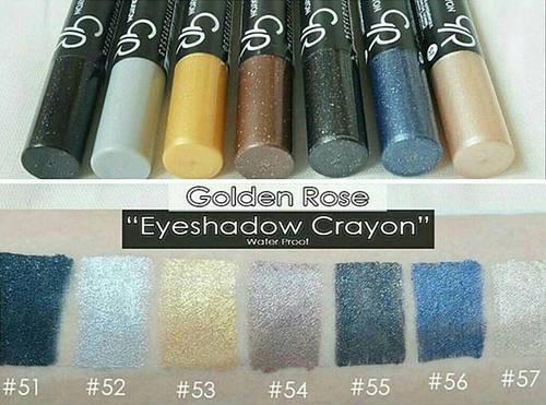 Тени-карандаш для глаз Golden Rose Glitter Eyeshadow Crayon Waterproof