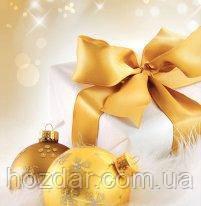 Новогодний пакет подарочный бумажный квадрат 23х24х10 (24-132)