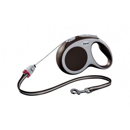 FLEXI VARIO S Поводок-рулетка для мелких собак, хорьков и кошек, 8м (трос), до 12 кг, коричневый