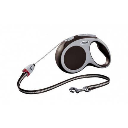 FLEXI VARIO S Поводок-рулетка для мелких собак, хорьков и кошек, 8м (трос), до 12 кг, коричневый, фото 2