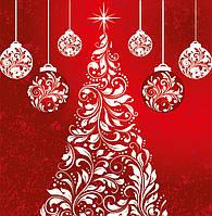 Новогодний пакет подарочный бумажный квадрат 23х24х10 (24-134)