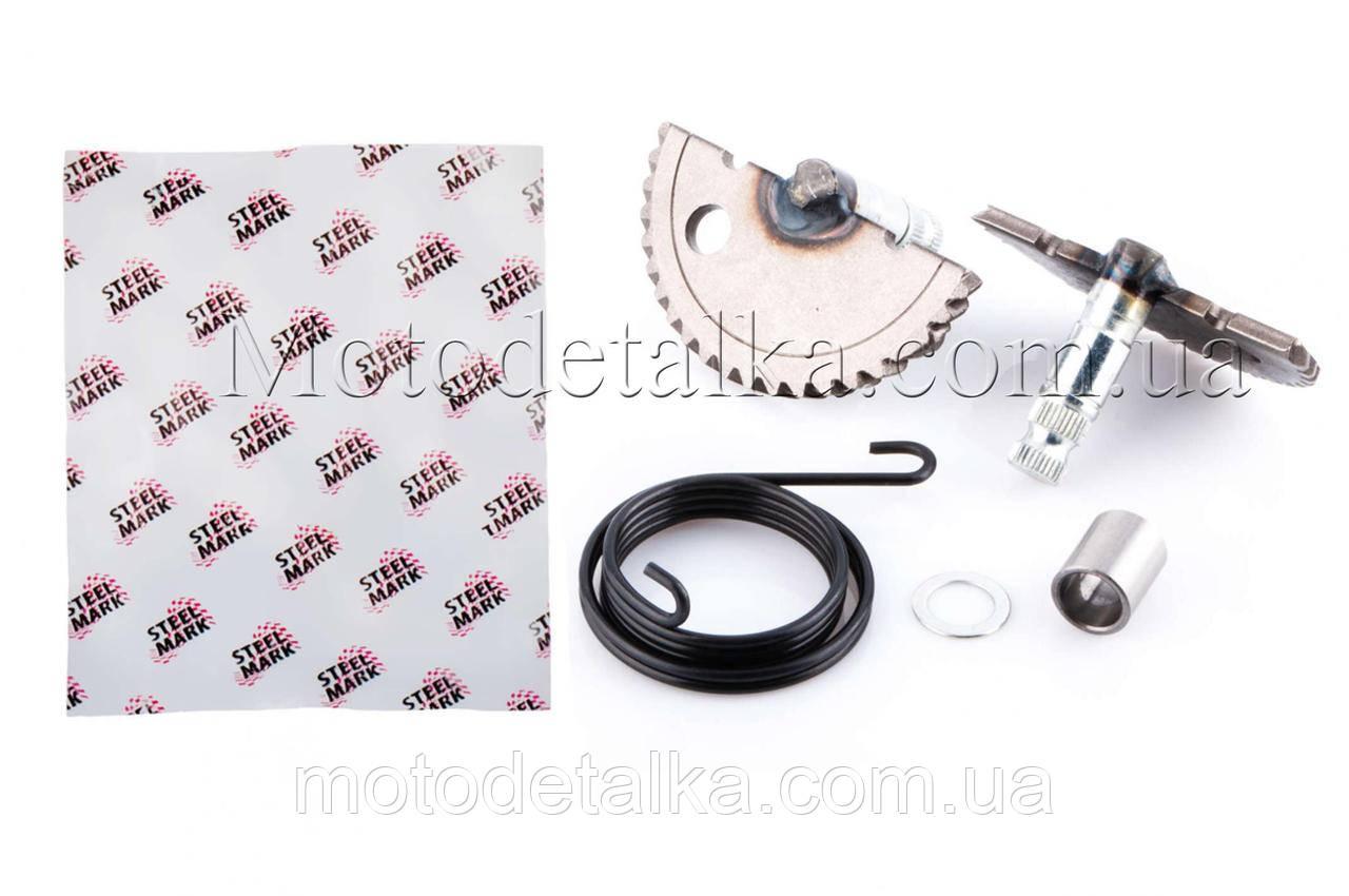Сектор заводной (полумесяц) Honda DIO (+пружина, втулка)