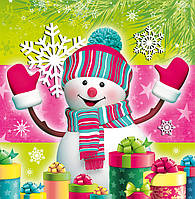 Новогодний пакет подарочный бумажный квадрат 23х24х10 (24-135)