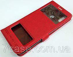 Чехол книжка с окошками momax для Huawei Honor Play красный