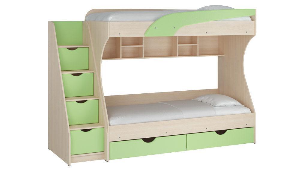 Кровать двухъярусная Кадет МДФ
