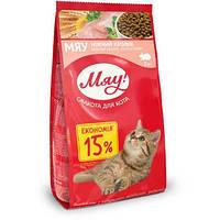 Сбалансированный сухой корм Мяу! для взрослых кошек с кроликом, 2 кг