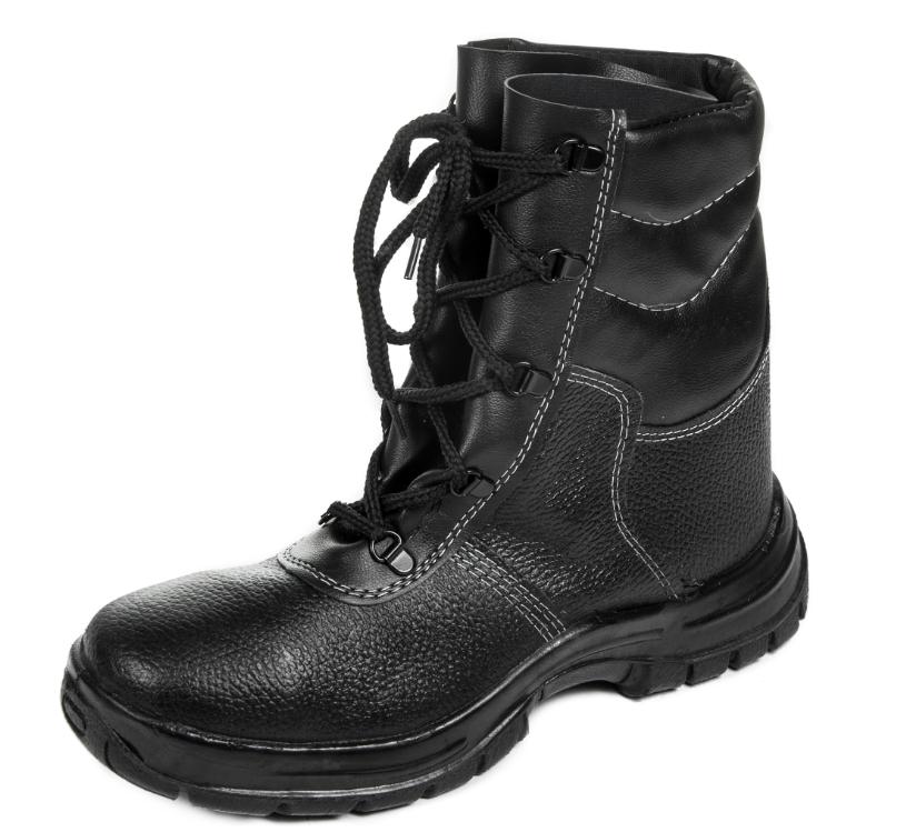 Ботинки рабочие Профи утепленные с высокими берцами, берцы кожаные утепленные