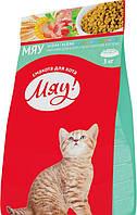 Сухой полнорационный корм Мяу! для котят 3 кг