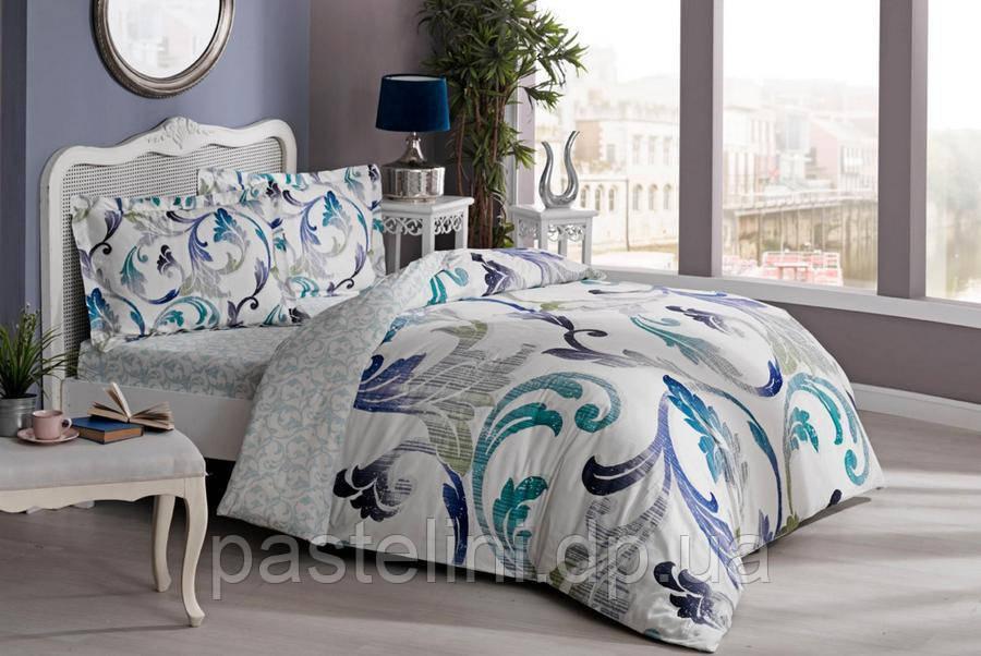 TAC Евро комплект постельного белья сатин Marlena yesil