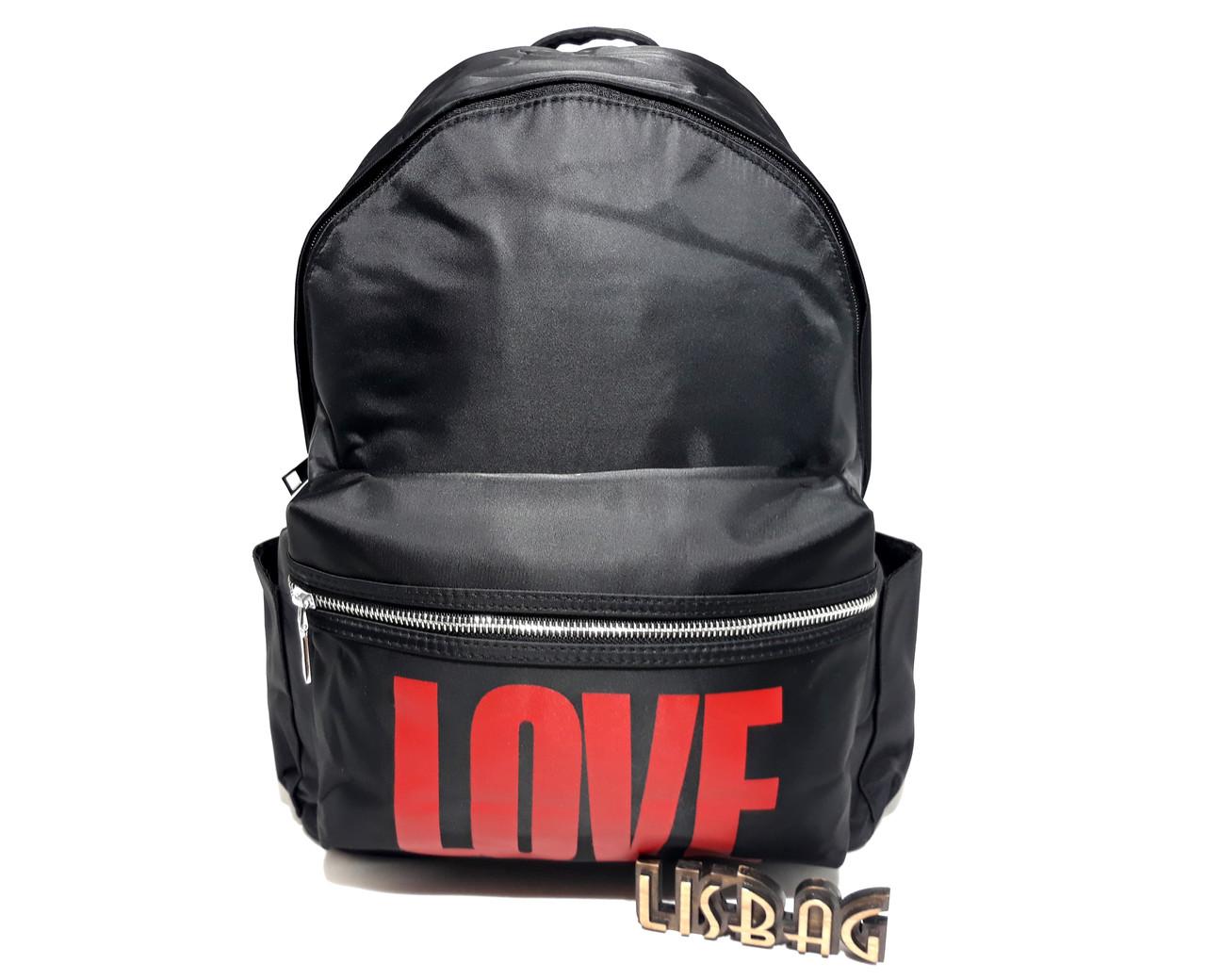 25e9c07e8dfc Женский стильный женский рюкзак Love черного цвета, вместительный ...