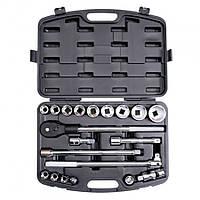 """Профессиональный набор инструмента 3/4"""", 20 ед., размер головок 19-50 мм, пластиковый кейс """"Intertool ET-6023"""""""