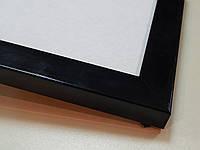 Рамка 30х40.Черный матовый.22 мм.Пластик.