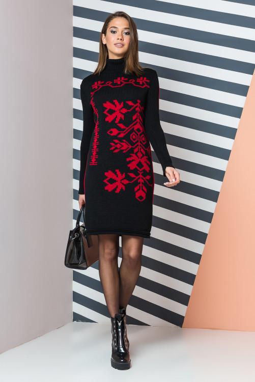 Вязаное платье Уля р 42-50