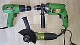 Набір комплект електроінструменту PROCRAFT Мережевий шуруповерт, Болгарка 125, Дриль ударний., фото 8
