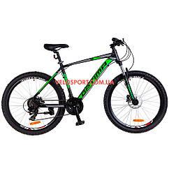 Горный велосипед Optimabikes F-1 HDD 26 дюймов черно-зеленый