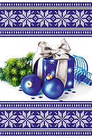 Новогодний пакет подарочный бумажный большой вертикальный 12х36х9 (38-003)