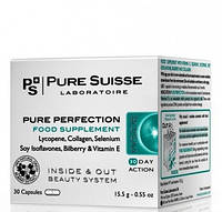 Pure Suisse Антиоксидантная пищевая добавка с коллагеном, 30 капсул  Pure Perfection