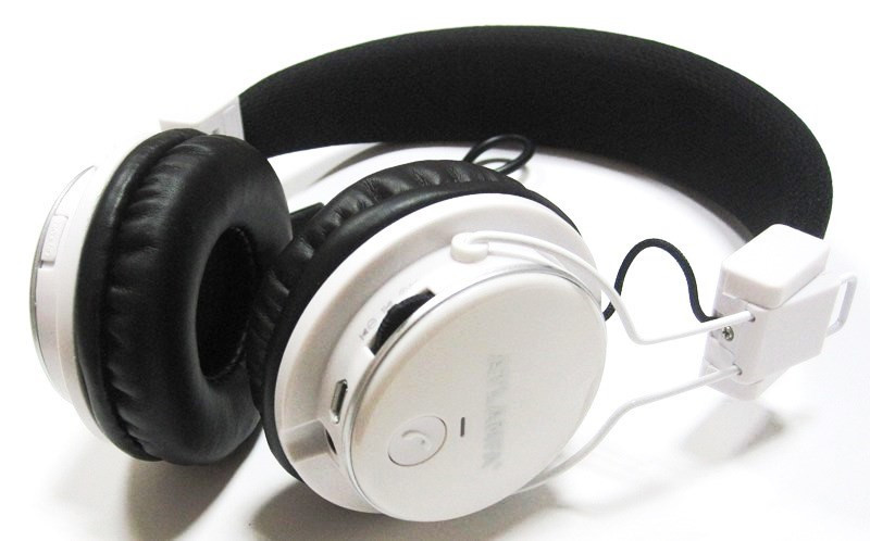 Наушники Bluetooth Atlanfa 7611 Белые беспроводные блютуз MP3 FM микрофон
