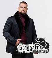 Braggart Status 17602 | Зимняя мужская куртка черно-синяя