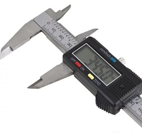 Штангенциркуль цифровой электронный 150мм 0.1 мм в футляре, пластик