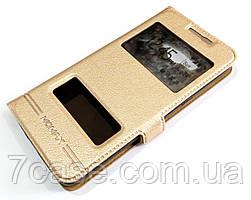 Чехол книжка с окошками momax для Samsung Galaxy Grand Prime G530h золотой