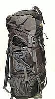 Рюкзак туристический походный 85 литров серо черный большой