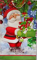 Новогодний пакет подарочный бумажный гигант вертикальный 46х32х15 (39-006)
