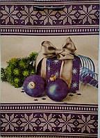 Новогодний пакет подарочный бумажный гигант крафт 30х45х12 (39-008)