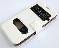 Чохол книжка з віконцями для Samsung Galaxy Core 2 G355 білий