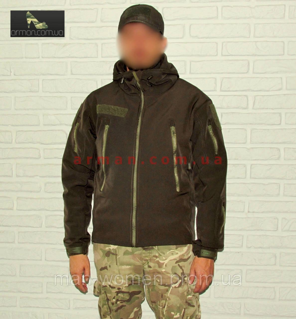 Куртка тактическая (Нацгвардия, СБУ, ВСУ, ГПСУ). Оригинальная ткань softshell (ветровлагозащитная)