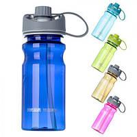Бутылка - поилка спортивная Rook R17237 пластик/ силикон, 550мл, разные цвета, спортивная бутылка, бутылка для воды, бутылка