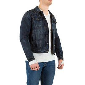 Джинсовая куртка мужская с шипами Sixth June (Европа), Темно-синий