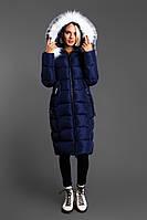 Женская удлиненная зимняя куртка с мехом (5 цветов)