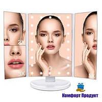Настольное зеркало для макияжа с LED подсветкой 22 светодиода (Уценка)