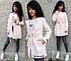 Женское пальто-кардиган на кулиске с карманами в расцветках. БЛ-2-1018, фото 5