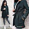 Женское пальто-кардиган на кулиске с карманами в расцветках. БЛ-2-1018, фото 6