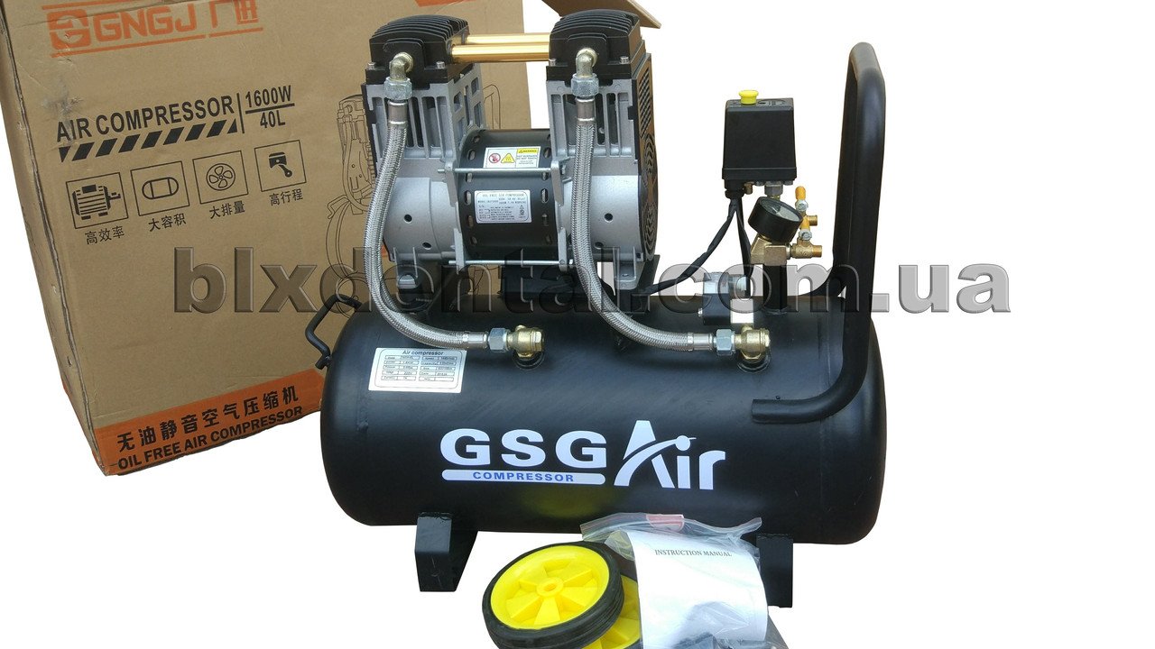 Компрессор стоматологический GNG1600W ресивер 40л, фото 1