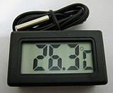 Цифровий LCD термометр з виносним датчиком, фото 2