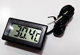 Цифровий LCD термометр з виносним датчиком, фото 3