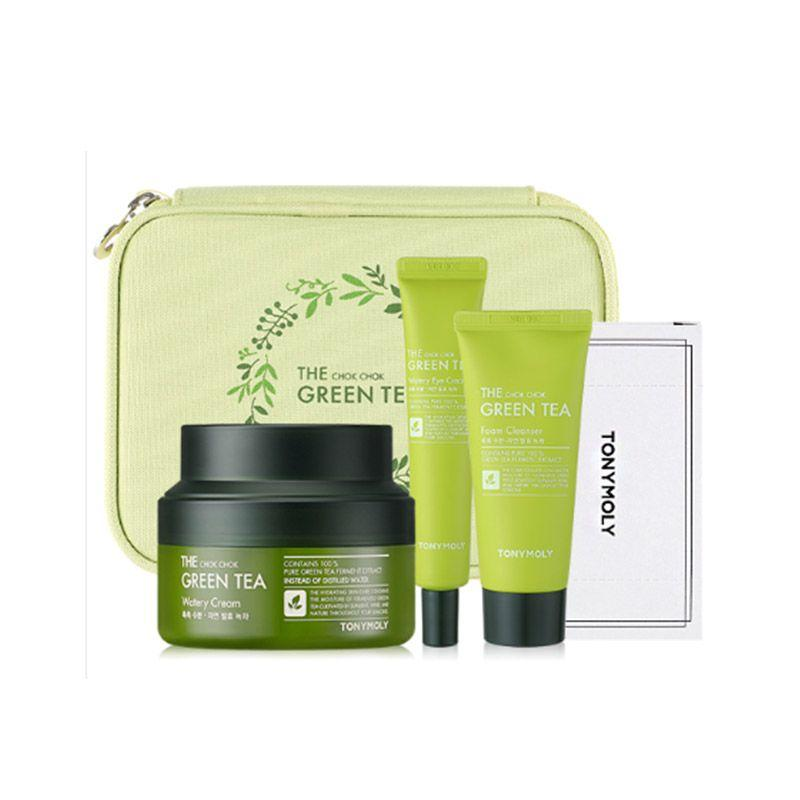 Tony Moly Green Tea Safe Hydration Kit Увлажняющий набор с зеленым чаем