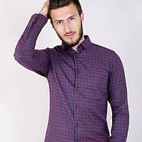 Мужская рубашка клетка , фото 1