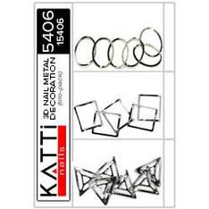 KATTi Метал декор трио-пак 5406 черные 3D